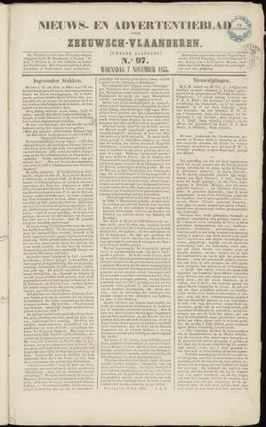 Ter Neuzensche Courant. Algemeen Nieuws- en Advertentieblad voor Zeeuwsch-Vlaanderen / Neuzensche Courant ... (idem) / (Algemeen) nieuws en advertentieblad voor Zeeuwsch-Vlaanderen 1855-11-07