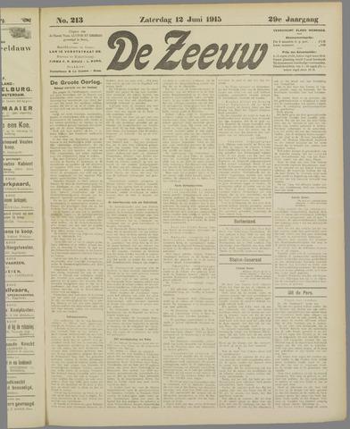 De Zeeuw. Christelijk-historisch nieuwsblad voor Zeeland 1915-06-12