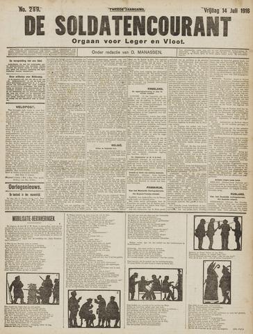 De Soldatencourant. Orgaan voor Leger en Vloot 1916-07-14