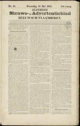 Ter Neuzensche Courant. Algemeen Nieuws- en Advertentieblad voor Zeeuwsch-Vlaanderen / Neuzensche Courant ... (idem) / (Algemeen) nieuws en advertentieblad voor Zeeuwsch-Vlaanderen 1862-05-14