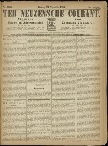Ter Neuzensche Courant. Algemeen Nieuws- en Advertentieblad voor Zeeuwsch-Vlaanderen / Neuzensche Courant ... (idem) / (Algemeen) nieuws en advertentieblad voor Zeeuwsch-Vlaanderen 1896-11-24
