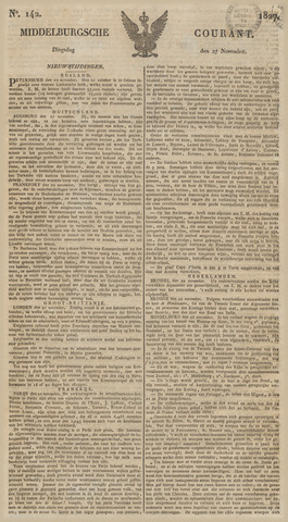 Middelburgsche Courant 1827-11-27