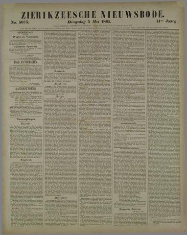 Zierikzeesche Nieuwsbode 1885-05-05