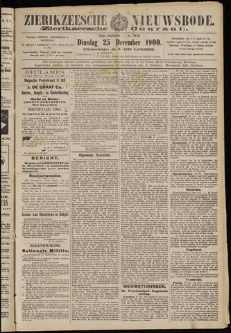 Zierikzeesche Nieuwsbode 1900-12-25