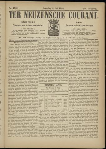 Ter Neuzensche Courant. Algemeen Nieuws- en Advertentieblad voor Zeeuwsch-Vlaanderen / Neuzensche Courant ... (idem) / (Algemeen) nieuws en advertentieblad voor Zeeuwsch-Vlaanderen 1882-07-08