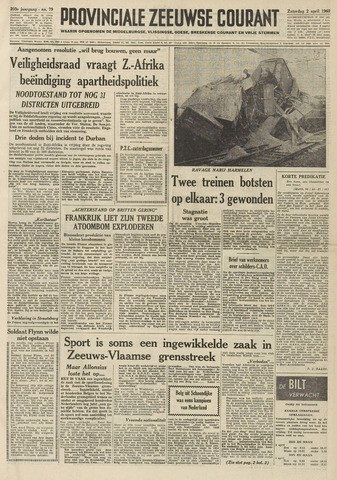 Provinciale Zeeuwse Courant 1960-04-02