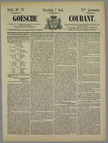 Goessche Courant 1885-07-07