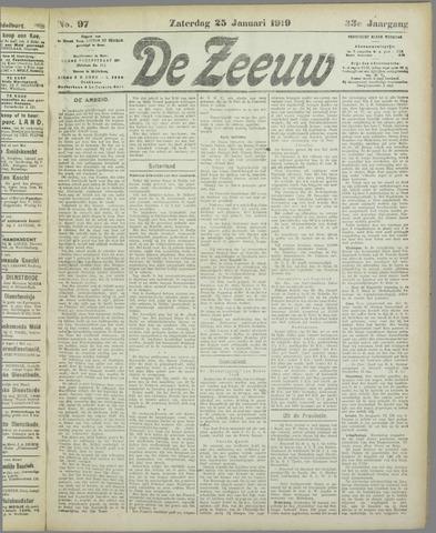 De Zeeuw. Christelijk-historisch nieuwsblad voor Zeeland 1919-01-25