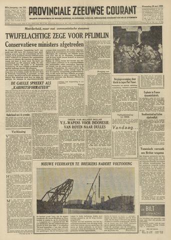 Provinciale Zeeuwse Courant 1958-05-28