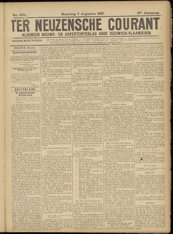 Ter Neuzensche Courant. Algemeen Nieuws- en Advertentieblad voor Zeeuwsch-Vlaanderen / Neuzensche Courant ... (idem) / (Algemeen) nieuws en advertentieblad voor Zeeuwsch-Vlaanderen 1927-08-08