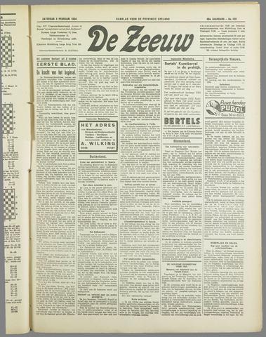 De Zeeuw. Christelijk-historisch nieuwsblad voor Zeeland 1934-02-03