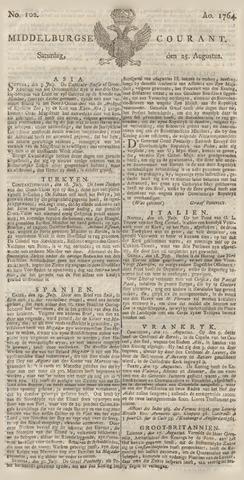 Middelburgsche Courant 1764-08-25