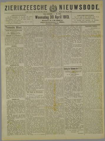 Zierikzeesche Nieuwsbode 1913-04-30