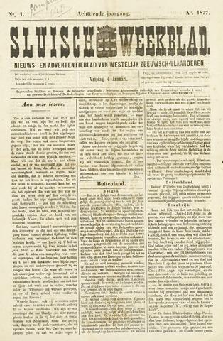 Sluisch Weekblad. Nieuws- en advertentieblad voor Westelijk Zeeuwsch-Vlaanderen 1877