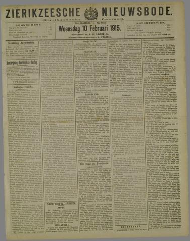 Zierikzeesche Nieuwsbode 1915-02-10
