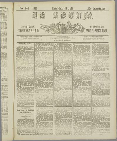 De Zeeuw. Christelijk-historisch nieuwsblad voor Zeeland 1912-07-13