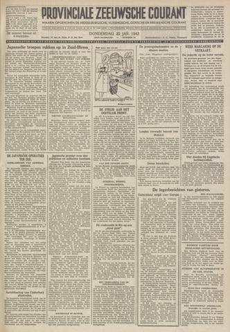 Provinciale Zeeuwse Courant 1942-01-22