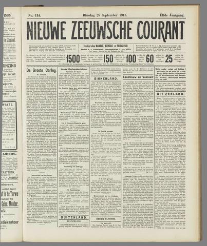 Nieuwe Zeeuwsche Courant 1915-09-28