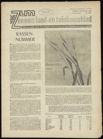 Zeeuwsch landbouwblad ... ZLM land- en tuinbouwblad 1966