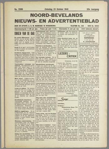 Noord-Bevelands Nieuws- en advertentieblad 1948-10-23