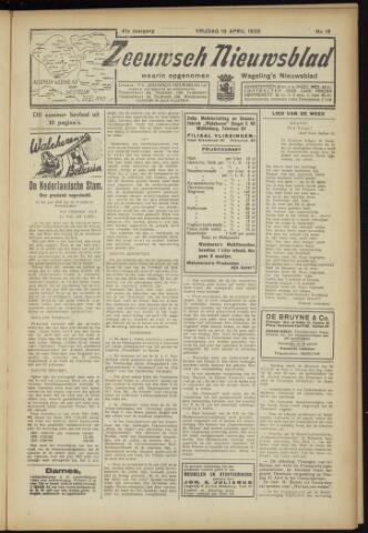 Zeeuwsch Nieuwsblad/Wegeling's Nieuwsblad 1935-04-19