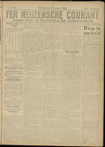 Ter Neuzensche Courant. Algemeen Nieuws- en Advertentieblad voor Zeeuwsch-Vlaanderen / Neuzensche Courant ... (idem) / (Algemeen) nieuws en advertentieblad voor Zeeuwsch-Vlaanderen 1924-01-30