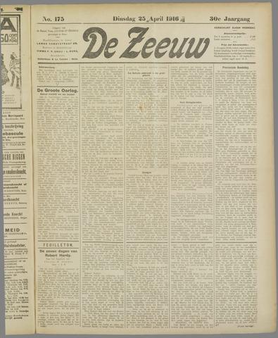 De Zeeuw. Christelijk-historisch nieuwsblad voor Zeeland 1916-04-25