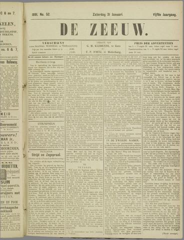 De Zeeuw. Christelijk-historisch nieuwsblad voor Zeeland 1891-01-31