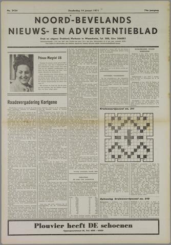Noord-Bevelands Nieuws- en advertentieblad 1971-01-14