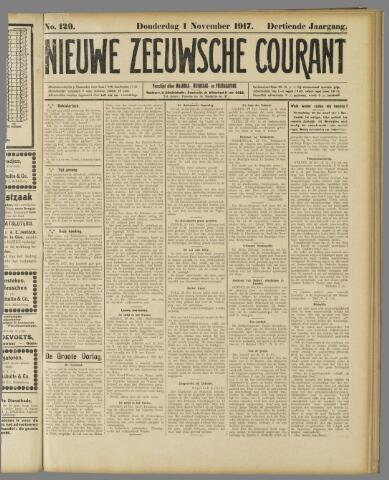 Nieuwe Zeeuwsche Courant 1917-11-01