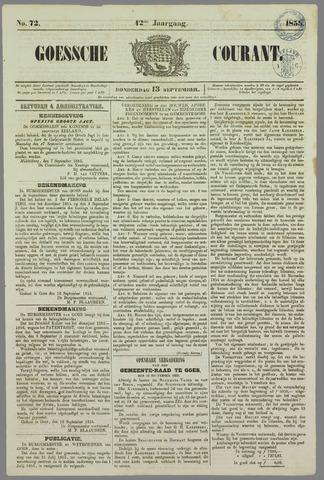 Goessche Courant 1855-09-13