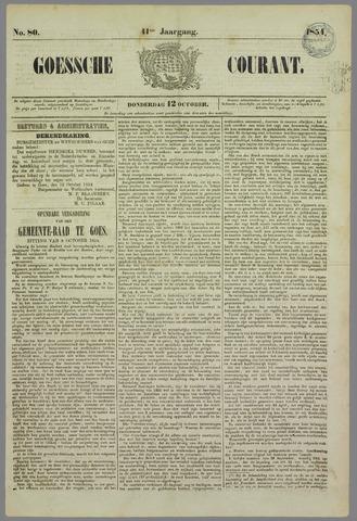 Goessche Courant 1854-10-12