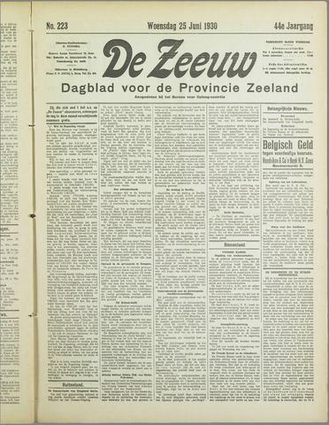 De Zeeuw. Christelijk-historisch nieuwsblad voor Zeeland 1930-06-25