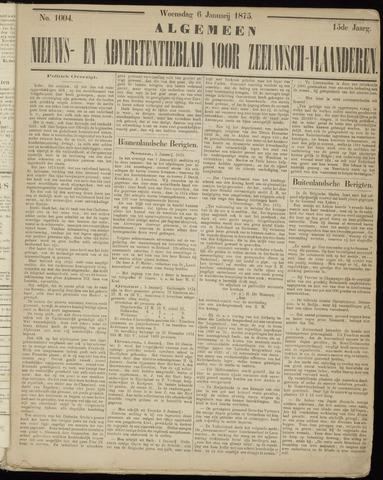 Ter Neuzensche Courant. Algemeen Nieuws- en Advertentieblad voor Zeeuwsch-Vlaanderen / Neuzensche Courant ... (idem) / (Algemeen) nieuws en advertentieblad voor Zeeuwsch-Vlaanderen 1875-01-06