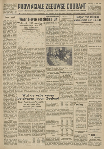 Provinciale Zeeuwse Courant 1949-01-15