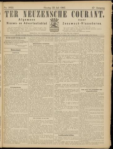 Ter Neuzensche Courant. Algemeen Nieuws- en Advertentieblad voor Zeeuwsch-Vlaanderen / Neuzensche Courant ... (idem) / (Algemeen) nieuws en advertentieblad voor Zeeuwsch-Vlaanderen 1907-07-23