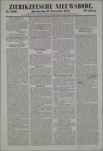 Zierikzeesche Nieuwsbode 1874-11-19
