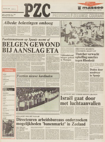 Provinciale Zeeuwse Courant 1979-07-02
