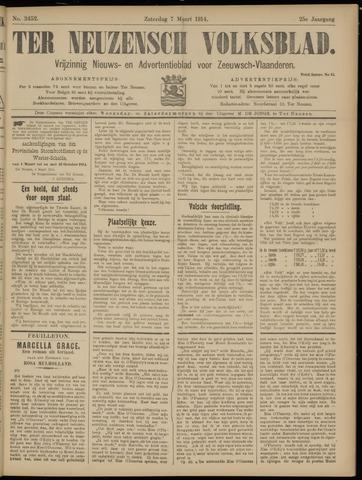 Ter Neuzensch Volksblad. Vrijzinnig nieuws- en advertentieblad voor Zeeuwsch- Vlaanderen / Zeeuwsch Nieuwsblad. Nieuws- en advertentieblad voor Zeeland 1914-03-07
