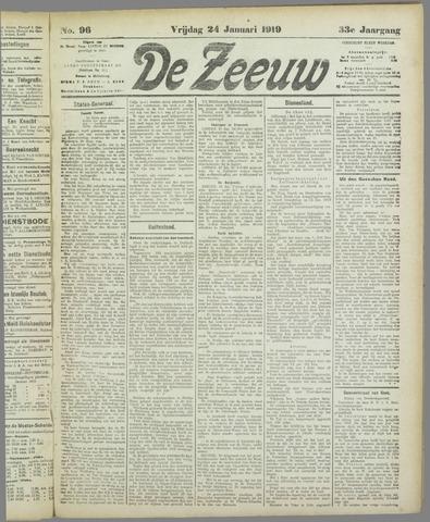 De Zeeuw. Christelijk-historisch nieuwsblad voor Zeeland 1919-01-24