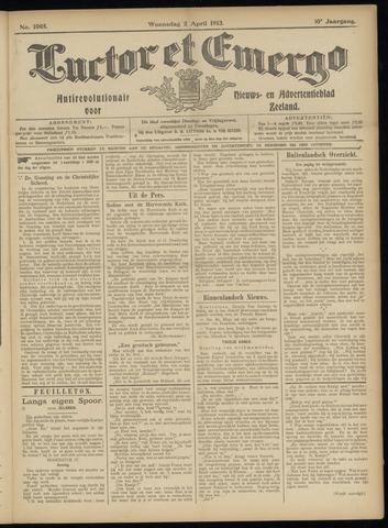 Luctor et Emergo. Antirevolutionair nieuws- en advertentieblad voor Zeeland / Zeeuwsch-Vlaanderen. Orgaan ter verspreiding van de christelijke beginselen in Zeeuwsch-Vlaanderen 1913-04-02