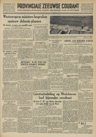 Provinciale Zeeuwse Courant 1950-04-18