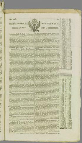 Middelburgsche Courant 1805-09-26