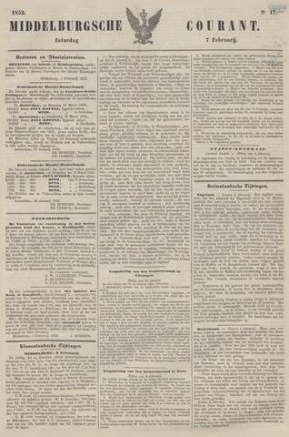 Middelburgsche Courant 1852-02-07