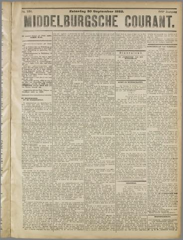 Middelburgsche Courant 1922-09-30