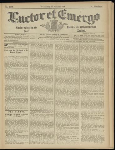 Luctor et Emergo. Antirevolutionair nieuws- en advertentieblad voor Zeeland / Zeeuwsch-Vlaanderen. Orgaan ter verspreiding van de christelijke beginselen in Zeeuwsch-Vlaanderen 1914-01-14