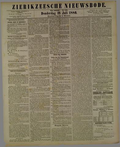 Zierikzeesche Nieuwsbode 1889-07-18