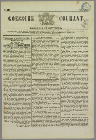 Goessche Courant 1852-09-16