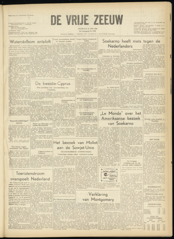 de Vrije Zeeuw 1956-05-22