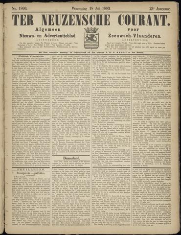 Ter Neuzensche Courant. Algemeen Nieuws- en Advertentieblad voor Zeeuwsch-Vlaanderen / Neuzensche Courant ... (idem) / (Algemeen) nieuws en advertentieblad voor Zeeuwsch-Vlaanderen 1883-07-18